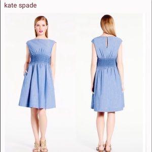 "Kate Spade ""Blaire "" Havana Chambray Blue dress"